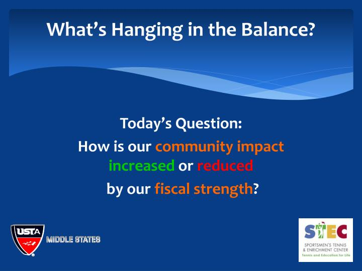 What's Hanging in the Balance?