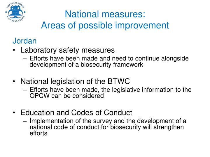 National measures: