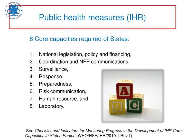 Public health measures (IHR)