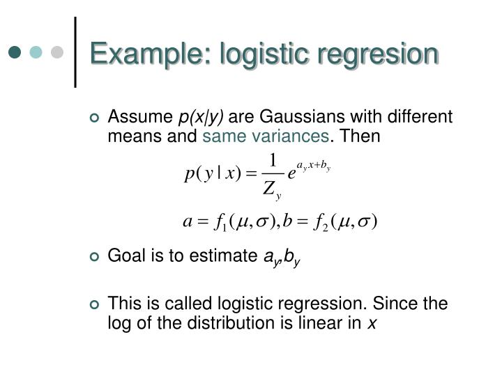 Example: logistic regresion