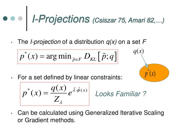 I-Projections