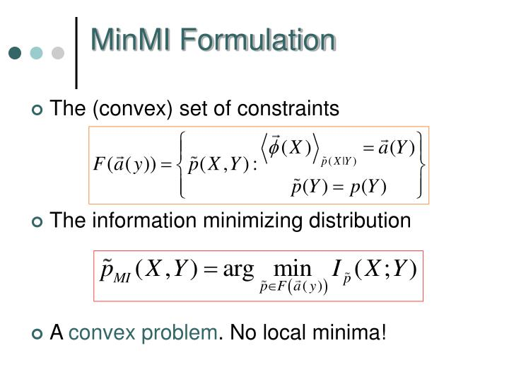 MinMI Formulation