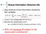 mutual information shannon 48