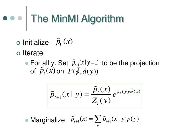 The MinMI Algorithm