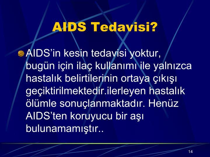 AIDS Tedavisi?