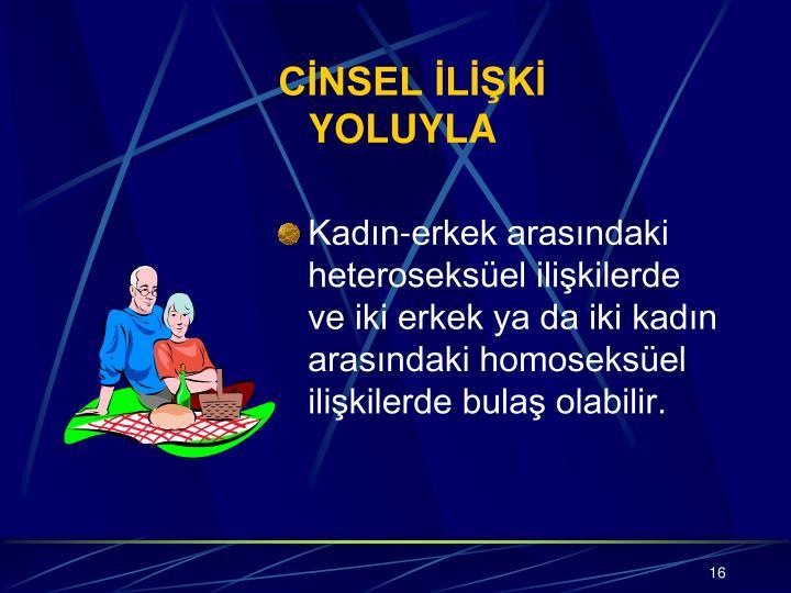 CİNSEL İLİŞKİ YOLUYLA