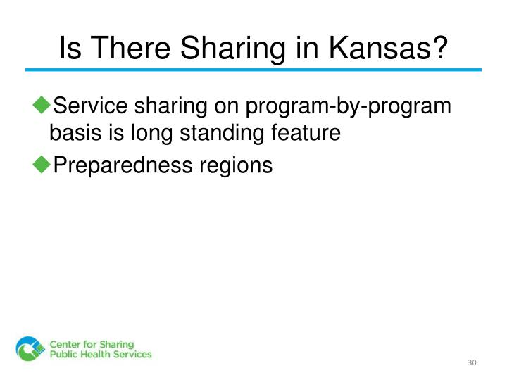 Is There Sharing in Kansas?