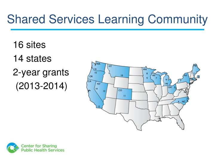 Shared Services Learning Community