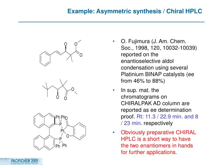 Example: Asymmetric synthesis / Chiral HPLC