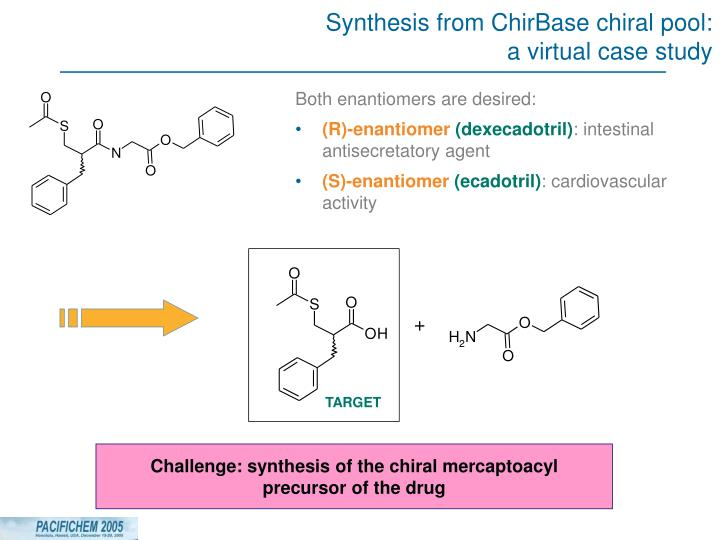 Synthesis from ChirBase chiral pool: