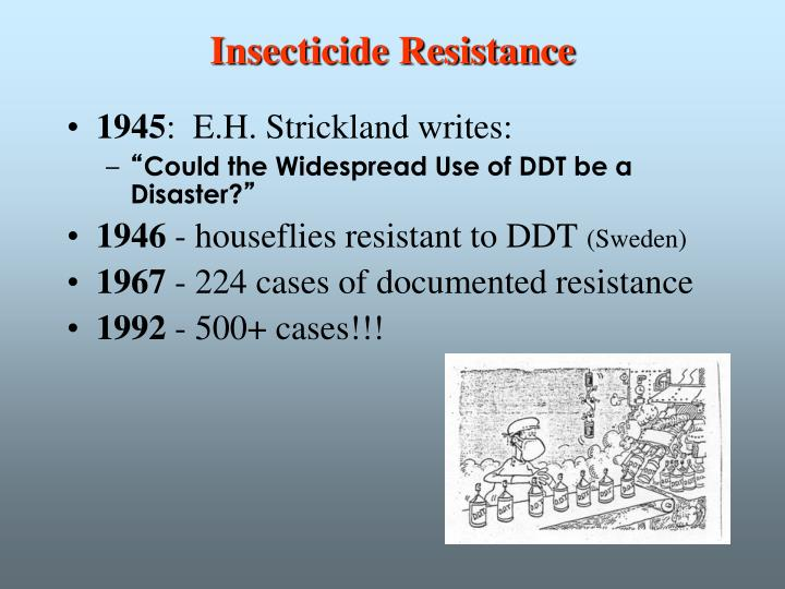 Insecticide Resistance