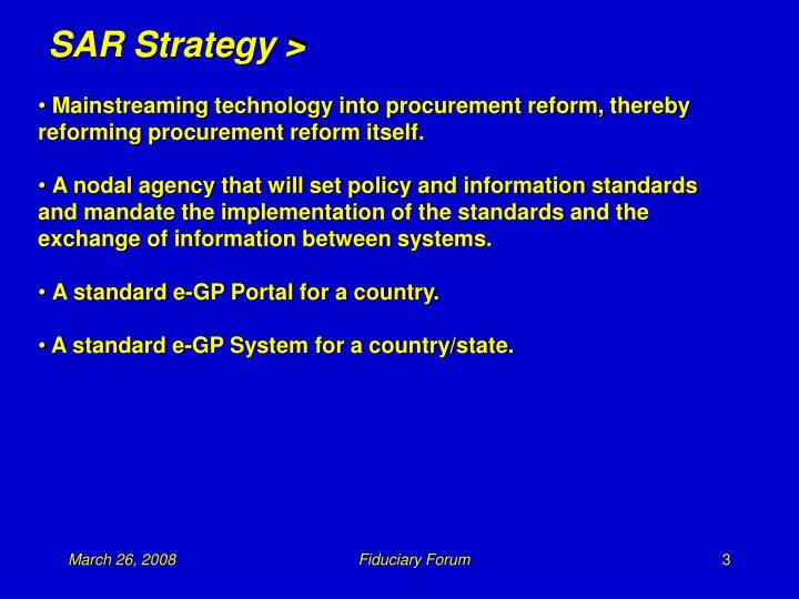 SAR Strategy >