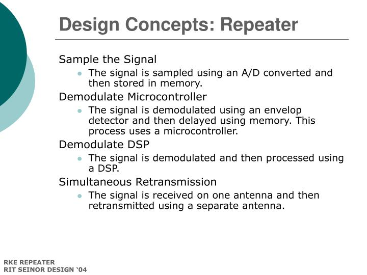 Design Concepts: Repeater