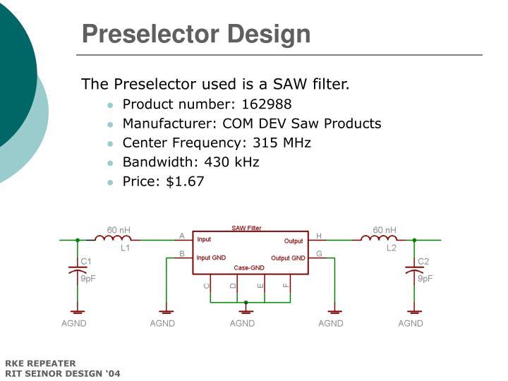 Preselector Design