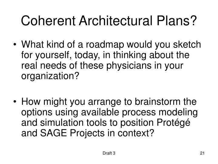 Coherent Architectural Plans?