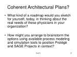 coherent architectural plans