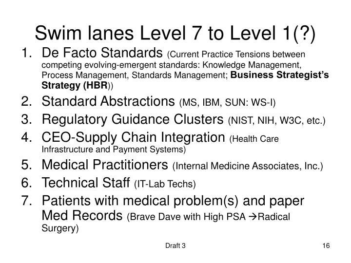 Swim lanes Level 7 to Level 1(?)