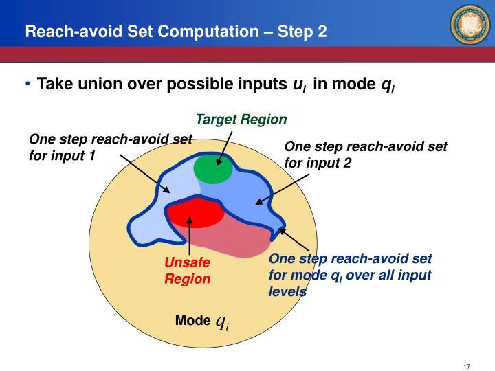 Reach-avoid Set Computation – Step 2