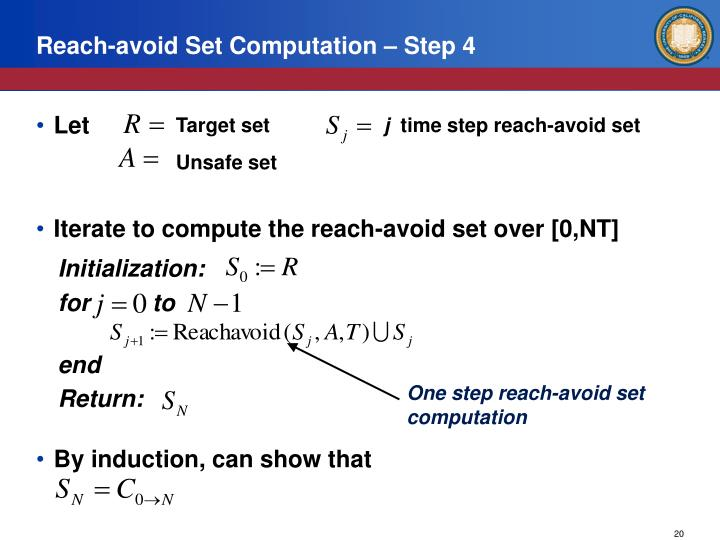 Reach-avoid Set Computation – Step 4