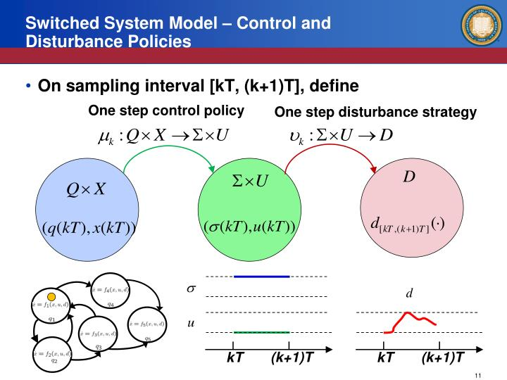 Switched System Model – Control and Disturbance Policies