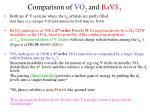 comparison of vo 2 and bavs 3