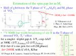 estimation of the spin gap in m 1