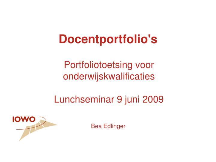Docentportfolio's