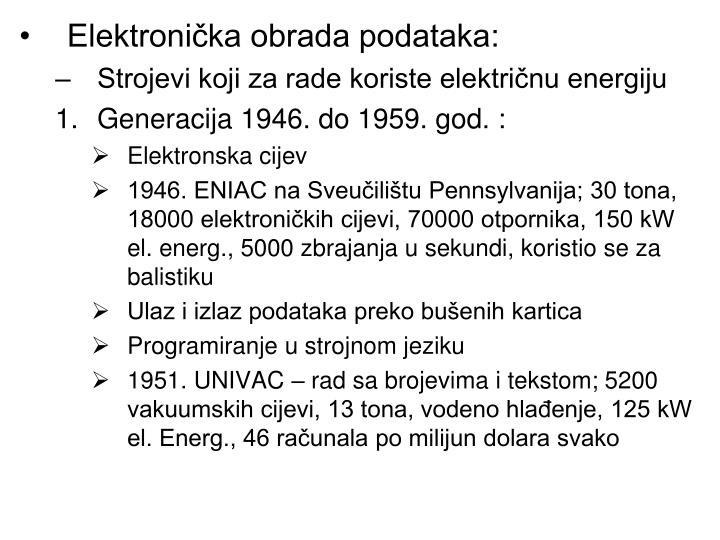 Elektronička obrada podataka: