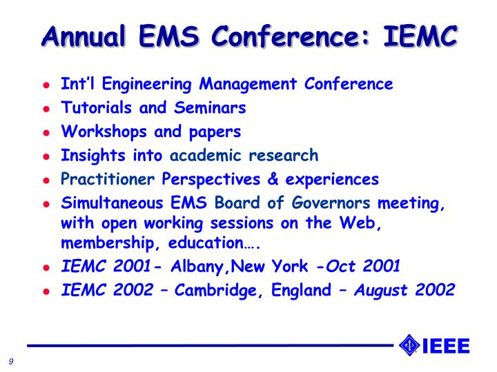 Annual EMS Conference: IEMC