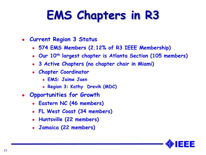 EMS Chapters in R3