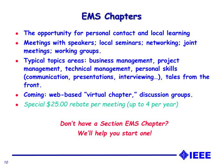 EMS Chapters