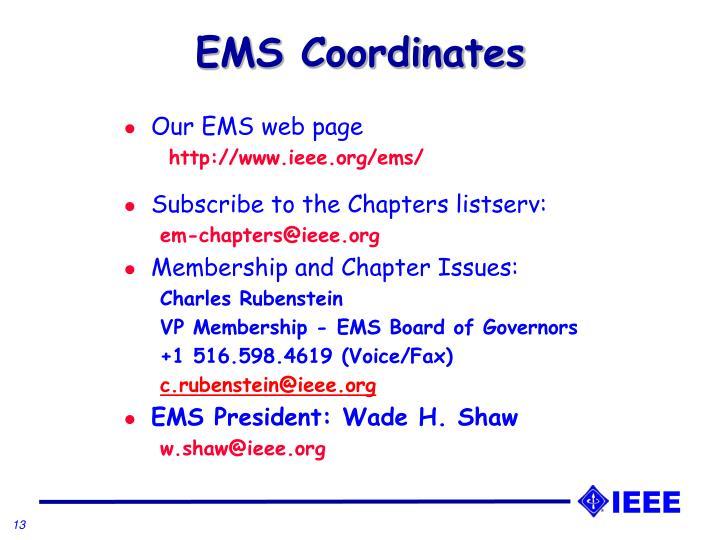 EMS Coordinates