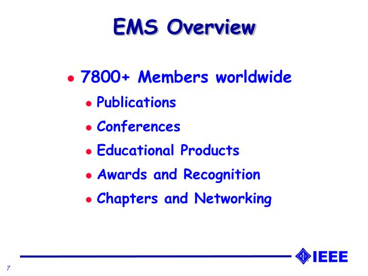 EMS Overview