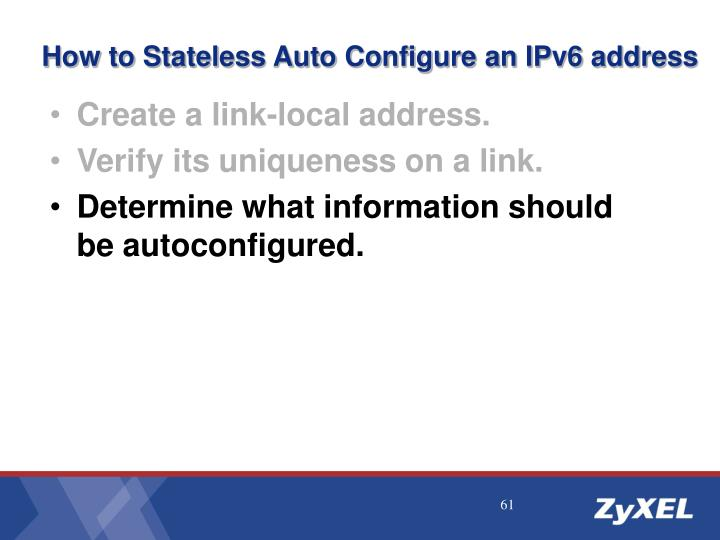 How to Stateless Auto Configure an IPv6 address