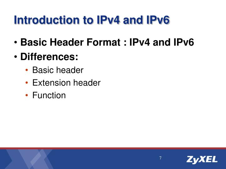 Introduction to IPv4 and IPv6
