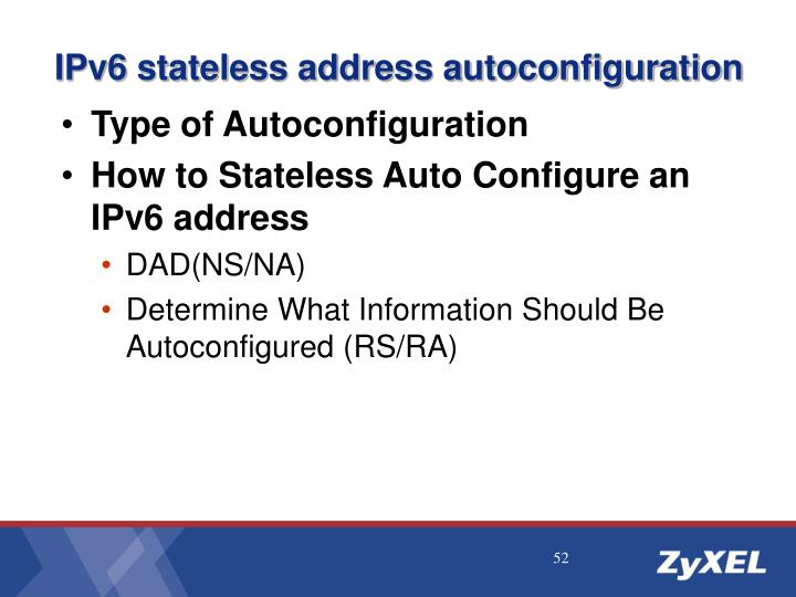 IPv6 stateless address autoconfiguration