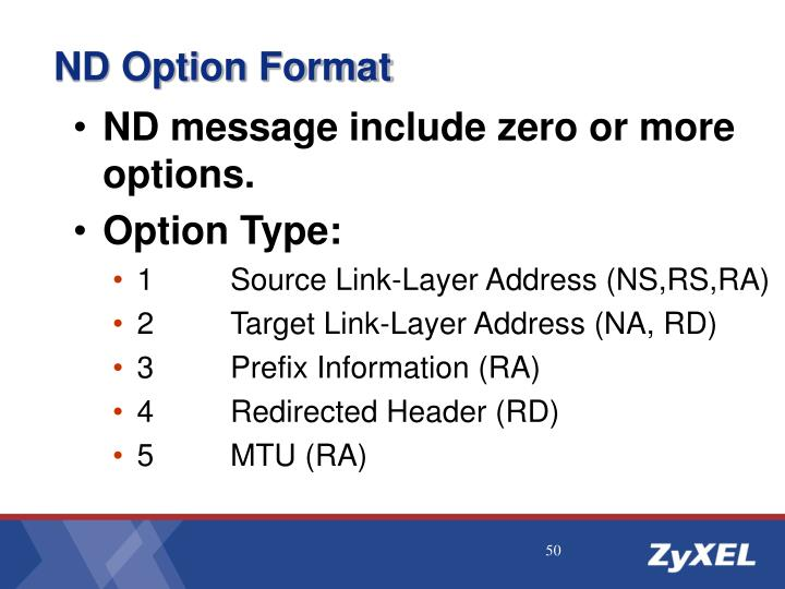 ND Option Format