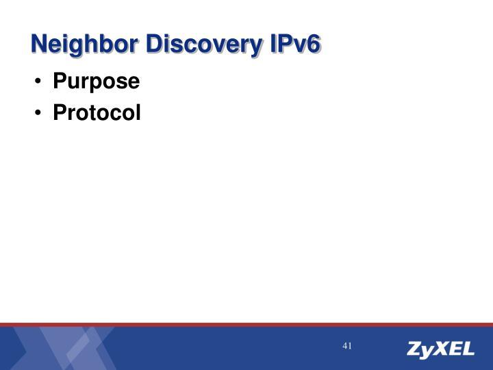 Neighbor Discovery IPv6