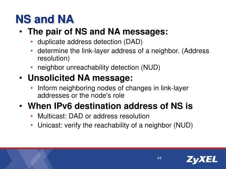 NS and NA