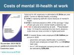 costs of mental ill health at work