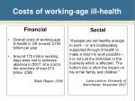 costs of working age ill health
