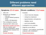different problems need different approaches
