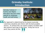 grimsby institute introduction
