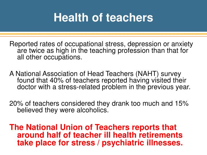 Health of teachers
