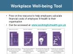 workplace well being tool