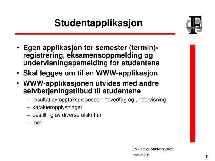 Studentapplikasjon