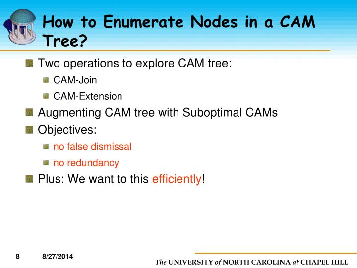 How to Enumerate Nodes in a CAM Tree?