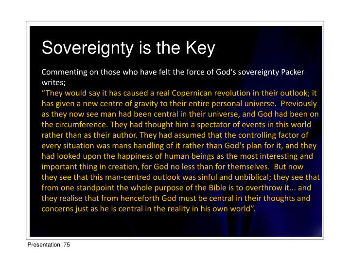 Sovereignty is the Key