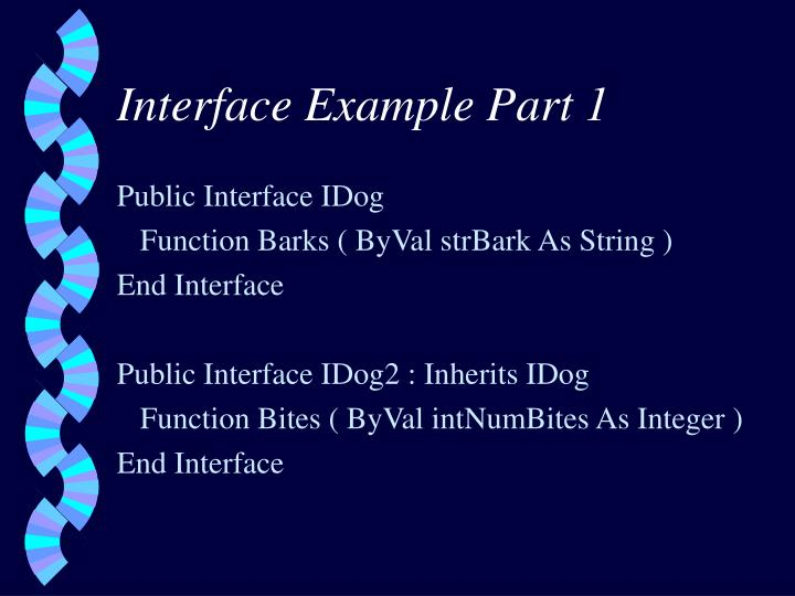 Interface Example Part 1