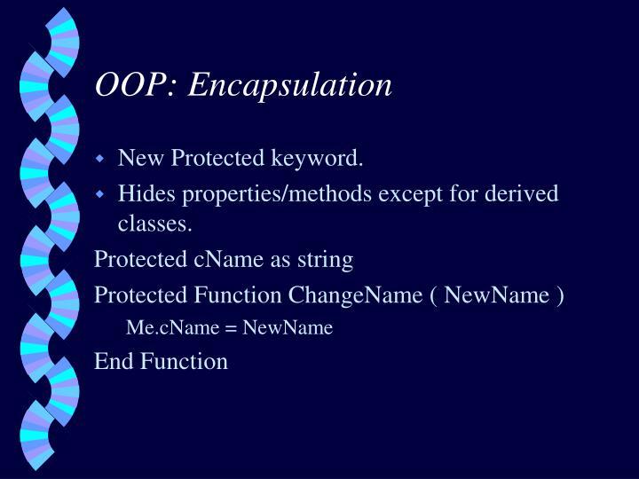 OOP: Encapsulation